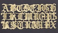 alte Dresdner Pappe Schrift Alphabet Buchstaben Lettern - DRESDEN ORNAMENTS