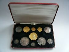 More details for 1887 queen victoria jubilee 11 gold and silver coin set - gold £5 to silver 3d