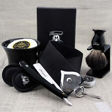 Complete Classic Shaving Set Straight Razor/Cut Throat & Pure Black Badger Brush