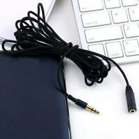 "3.5mm 1/8"" Stereo Audio Aux Headphone Extension Cable to Male Cord Female W3S0"