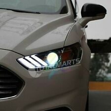 Headlights For 2013-2016 Ford Mondeo Fusion DRL LED Projector Mustang Style HF62