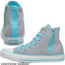 Women's CONVERSE All Star GREY SIDE ZIP HI TOP Trainers Boots Sneakers SIZE UK 3