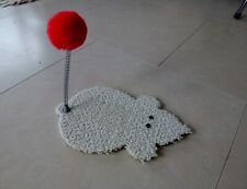 Mouse-shape Cat Toy with Pom Pom Tail