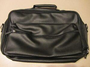 NEW-Avon - Laptop Briefcase Bag-Organizer- Faux Pebbled Leather-Black