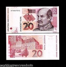 CROATIA 20 KUNA P39 2012 *AZ* REPLACEMENT UNC CURRENCY MONEY GOLUBICA BANK NOTE