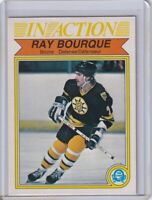 RAY BOURQUE IN ACTION 1982 1983 O-Pee-Chee OPC # 24 NHL BOSTON BRUINS