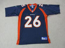 Reebok Clinton Portis Denver Broncos Football Jersey Adult Large Blue Orange Men