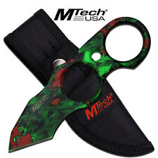 """MTech USA Zombie Camo 5.25 """" Fixed Blade Tanto With Sheath Zombie Collection"""