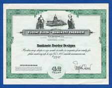 USA Eugene Olson Banknote Engraver  Bond-like Specimen Promotional Note 1962 VF+