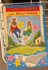 """ROY ROGERS AND DALE EVANS"" PAPER DOLLS VINTAGE"