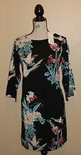 ♥♥ FELICIE ♥♥ robe originale classe imprimé japonisant oiseaux T 3 ou 40-42