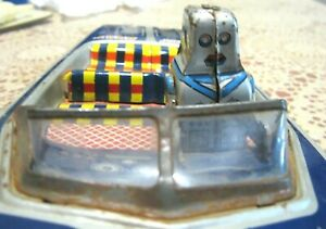 Vintage Robot Speed Boat Tin Toy No.7