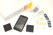 HTC EVO 3D - Black - SPRINT - Black - w/ BOX + MANUAL - PG86100 - NICE - WORKS