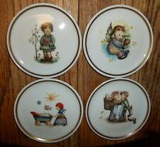 "4 Berta Hummel Museum 4"" Miniature Plates Christmas Mothers Helpers Afternoon St"