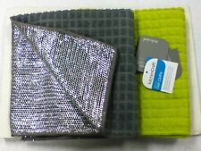 KITCHEN CRAFT PACK OF 2 DISHCLOTHS WITH NON SCRATCH SCOURER BACKING