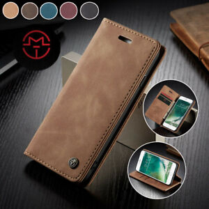 For iPhone 12 Pro XR XS Max 6 7 8 Plus Magnetic Flip Wallet Leather Case Cover