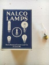 Vintage Old Nalco Chimney Light Bulb Lamps Clear Filament N O S  Lot of 12