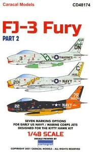 Caracal Decals 1/48 NORTH AMERICAN FJ-3 FURY Jet Fighter Part 2