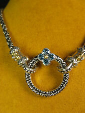 BARBARA BIXBY CIRCLE RING CONNECTOR FLOWER TOPAZ NECKLACE CHAIN ACCESSORY