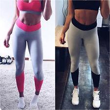 Damen Hoch Yogahose Leggins Fitness Lange Laufhose Sporthose Strumpfhose Hosen