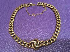 14K Gold Love Knot Chain Bracelet with Rose cut Diamond