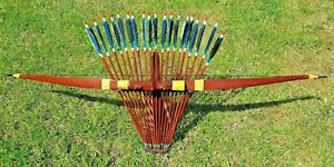 TRADITIONAL RECURVE ARCHERY SET WITH 20 ARROWS (FREE TRADE)