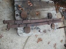 Vintage Pair Of Horse Drawn Carriage Leaf Springs With Steps Nice Wall Hanger