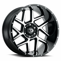 "20"" Vision Sliver 360 Gloss Black Machined Face Wheel 20x9 5x5.5 +12mm Truck Rim"