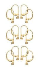 Earring Converters Convert Post to Leverback 6 Pairs Gold over Sterling Silver