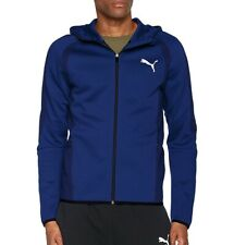 Puma Evostripe Ultimate Mens Hoody Full Zip Blue Gym Fashion Football Running