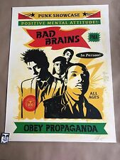 Shepard Fairey  OBEY Bad Brains Rasta 4 color screen print Signed &# /350