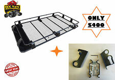 PRADO 90/95 SERIES FULL LENGTH STEEL ROOF RACK & HIGH LIFT JACK MOUNT DEAL