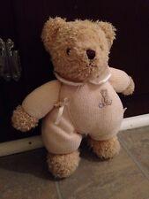 Carter's Classics Huggable Baby Teddy Bear Plush w/Rattle Lovey Tan Pooh