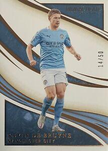 2020/21 Panini Immaculate Soccer - Kevin De Bruyne Base Card - Man City #14/50