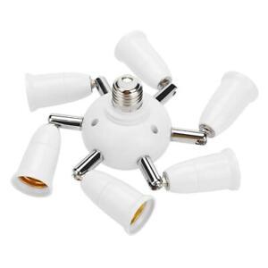 Adjustable E27 Splitter 7 Heads Lamp Base LED Bulb Adapter Holder Socket A#S