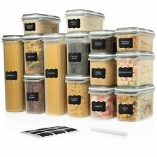 LARGE SET 28 pc Airtight Food Storage Containers w/ Lids (14 Container Set) $59