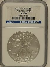 2007-W $1 American Silver Eagle MS70 NGC Early Release