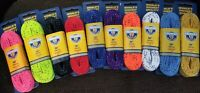 HOWIES WAXED HOCKEY LACES - BRAND NEW - MANY SIZES AND COLORS TO CHOOSE FROM!