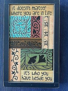 2010 Michael Macone/MACONE CLAY Wall Art~IT DOESN'T MATTER WHERE YOU ARE...
