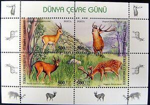 2003 TURKEY WILD ANIMAL STAMPS SHEET WILD ANIMALS STAMPS GAZELLE DEER ELK turdr