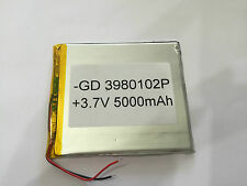 3980102P BATTERY 5000 mAh   FOR TAB  TABLET DEVICE ETC. 105mm x  90mm