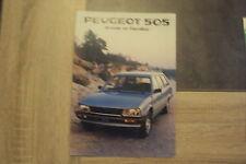 Catalogue Peugeot 505 break et familial - 24 pages - 1982