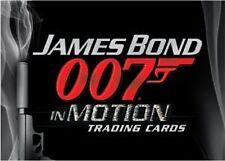 James Bond 007 In Motion Complete 63 Base Card + 6 Bond Lenticular Set