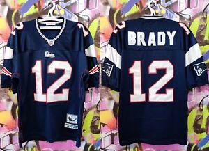 "New England Patriots Brady #12 NFL Football Jersey Mitchell & Ness Mens size 52"""