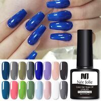 NEE JOLIE 8ml UV Gel Nagellack Classic Blue Serie Tränken Sie Nail Art Gellack