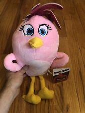 "15"" Angry Birds Movie Girl Plush Pink Stella Stuffed Animal Plush Doll Toy Kids"