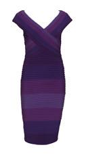 """LIZ JORDAN"" PURPLE OMBRE BANDAGE DRESS  - SIZE 14 - LIKE NEW"