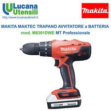 MAKITA MAKTEC TRAPANO AVVITATORE modello M8301DWE + 2 Batterie + Caricabatterie
