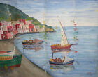 European art antique oil painting fauvist seascape signed