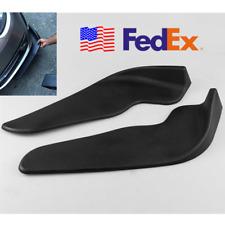 USA BLACK ABS Car Front Bumper Spoiler Universal Left+Right Scratch Resistant 2x